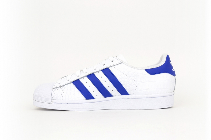 adidas Superstar weiß / blau / navy
