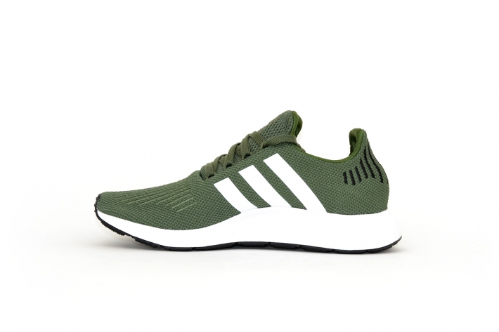 adidas Damen Swift Run dunkelgrün / weiß