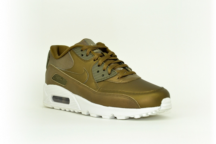 Nike Damen Air Max 90 Premium oliv / gold