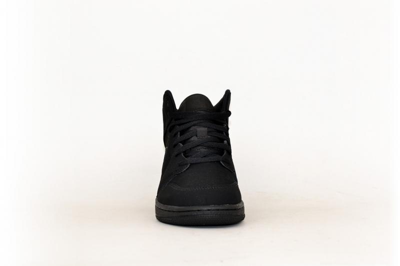 Nike Air Jordan 1 Mid (GS) schwarz
