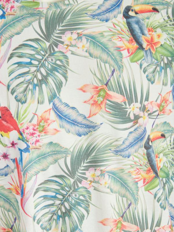 Jack & Jones Tropical Birds T-Shirt weiß