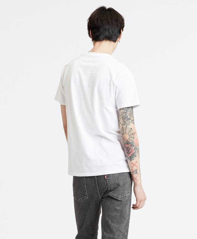 Levis Batwing Flamingo T-Shirt weiß