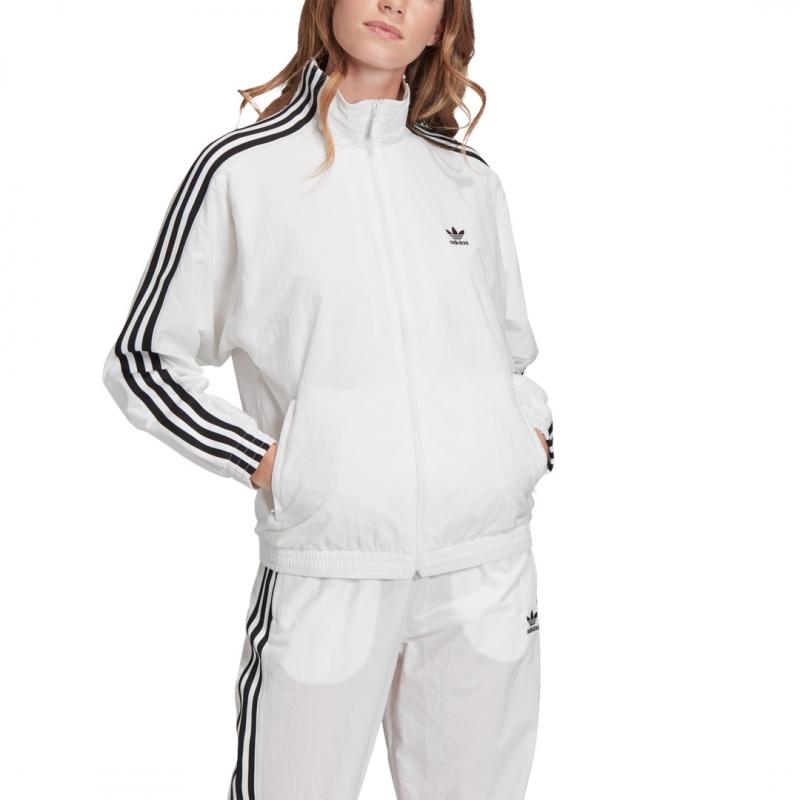 adidas Nylon Track Top Jacke weiß