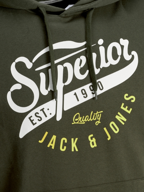 Jack & Jones Logo Sweat Hoodie grün