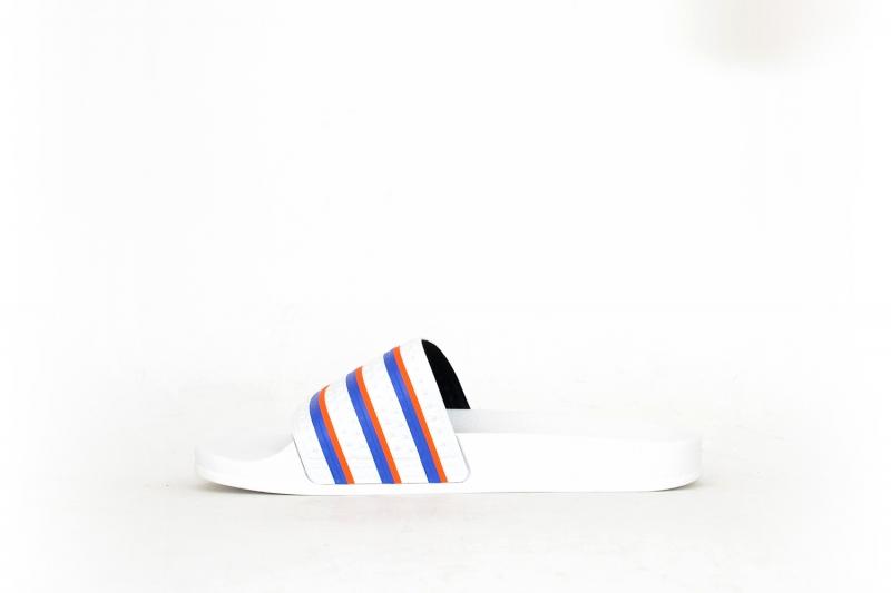 adidas Adilette weiß/blau/orange
