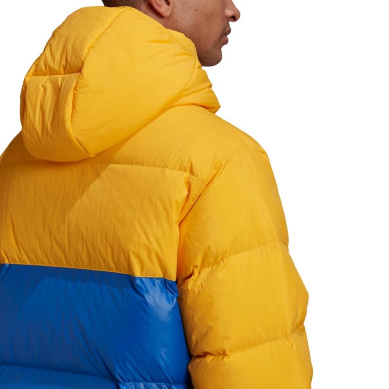 adidas Down Regen Puffer Jacke gelb/blau