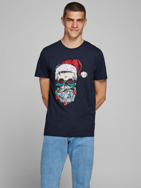 Jack & Jones Skull XMas Tee navy blazer
