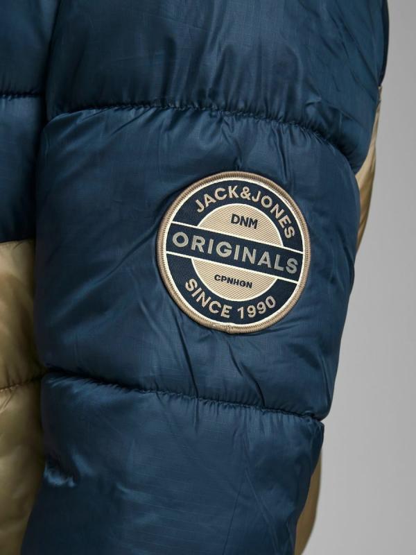 Jack & Jones Jordaner Puffer Jacket blau/braun