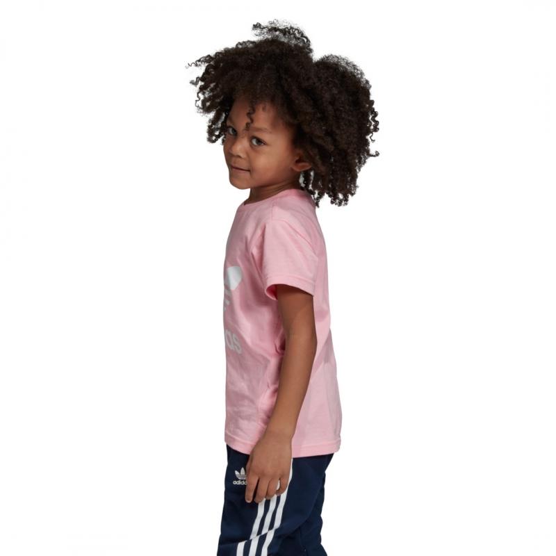 adidas Trefoil Tee pink / white