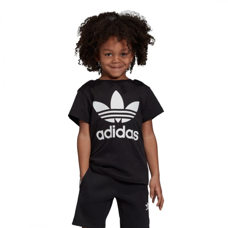 adidas Trefoil Tee black / white
