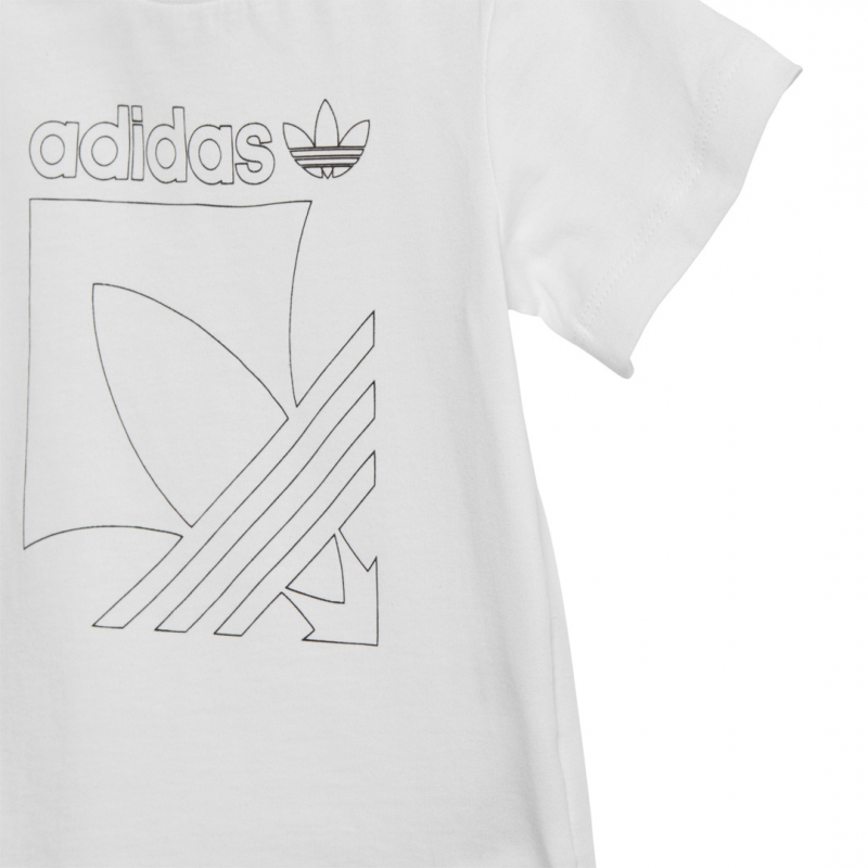 adidas Kinder set weiß / schwarz