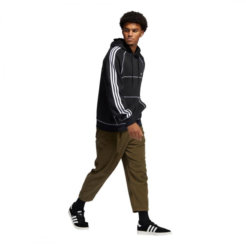 adidas stitch hoddie black
