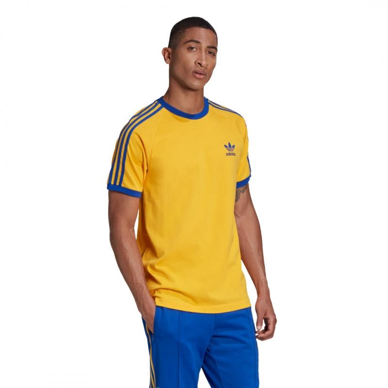 Adidas 3-Stripes Tee yellow / blue