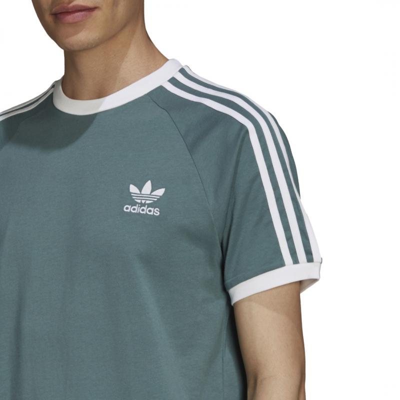 adidas 3-Stripes Tee petrol / weiß