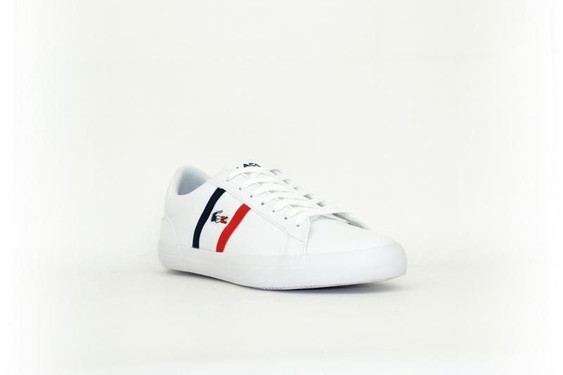 Lacoste Lerond Tricolore weiß / dunkelblau / rot