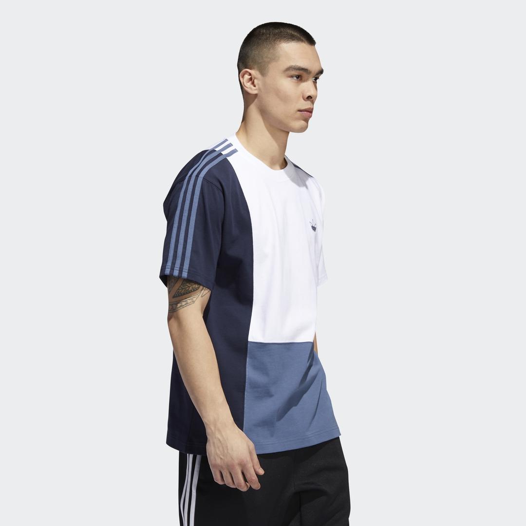 adidas Asymm Tee white/blue