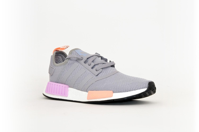 6a77468fab0707 Adidas Nmd R1 W Grau Rosa Orange 40 F Low S
