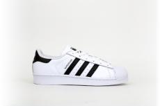 Adidas Superstar weiß / schwarz / geprägt