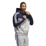 adidas Mixed Hoodie grey / navy