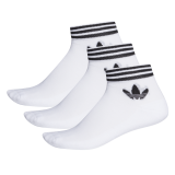 adidas Trefoil Ank Socken weiß