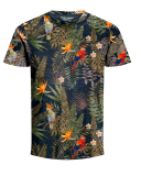 Jack & Jones Tropical Birds T-Shirt dunkelblau