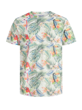 Jack & Jones Tropical Birds T-Shirt weiß