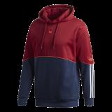 adidas Outline FT Hoodie maroon