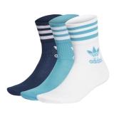 adidas Mid Cut Crew Socken weiß/blau
