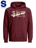 Jack & Jones Logo Sweat Hoodie rot