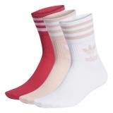 adidas Mid Cut Crew Socken weiß / pink / rot