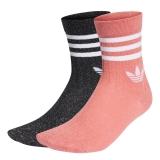 adidas Mid Cut Full Gl Socken schwarz/pink