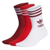 adidas Mid Cut Socken rot/weiß