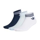 adidas Trefoil Ank Socken weiß/navy