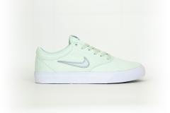 Nike SB charge CNVS grün / silber