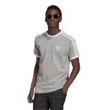 adidas 3-Stripes Tee grau / weiß