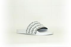 adidas Adilette weiß / schwarz zebra