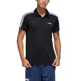 adidas Poloshirt schwarz / weiß