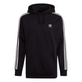 adidas 3 Streifen Hoody schwarz / weiss