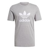 adidas Trefoil T-Shirt grau / weiß