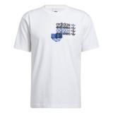 adidas Logo Tee weiß / schwarz / blau