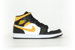 Air Jordan 1 Mid white / Pollen-Black