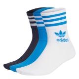 adidas mid cut crew socken blau / weiß