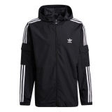 adidas 3-Stripes WB FZ Jacke schwarz / weiß