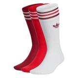 adidas solid crew Socken weiß / rot
