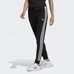 adidas Damen Regular TP Trainingshose schwarz / weiß