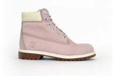 Timberland Junior Premium Boots rosa / weiß